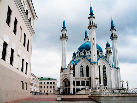 The Kul Sharif Mosque in the kremlin.