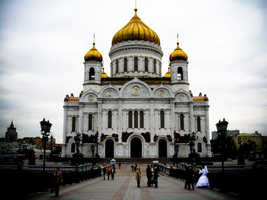 The Cathedral of Christ the Savior. Most impressive church in Moscow.