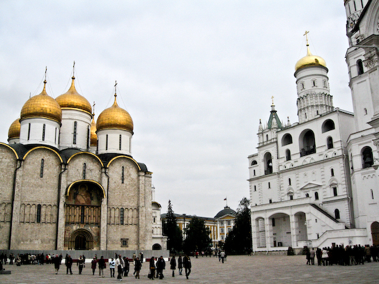 Assumption Cathedral and the Ivan the Great Bell Tower in the Kremlin