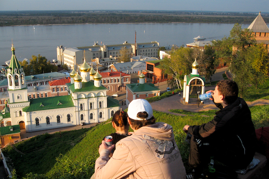 Overlooking the Volga from the kremlin
