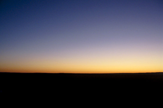 Sunset in the Gobi.