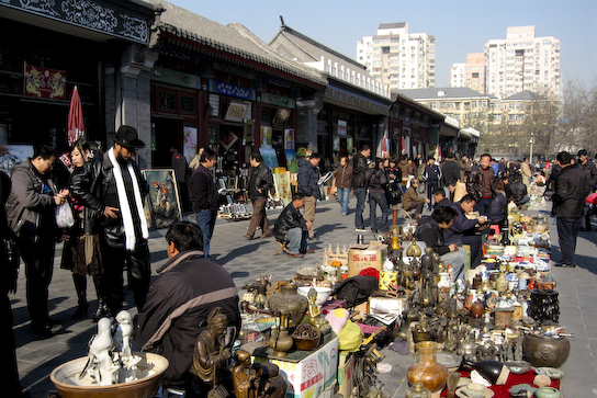 Antiques market.