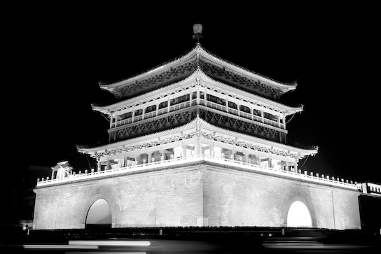 The Bell Tower in the heart of Xi'an.