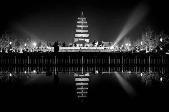 Big Goose Pagoda after the show.