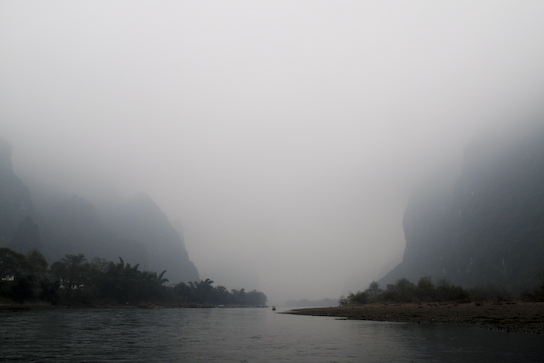 Along the Li River.