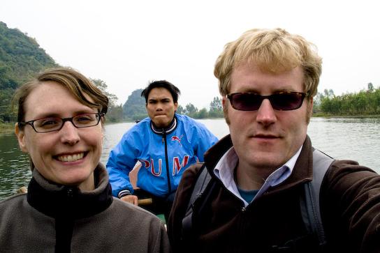 Tina, Stuart, rower guy.
