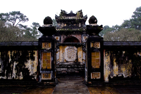 Inner wall around Tu Duc's tomb.