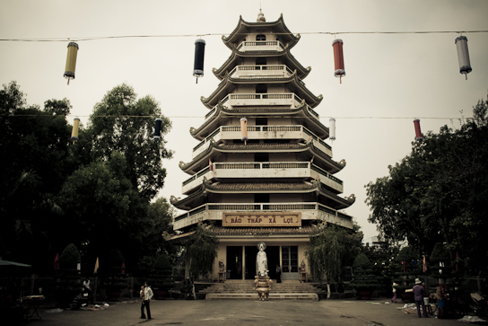 The Giac Lam pagoda.