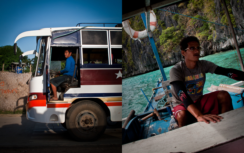 Bus and boat drivers.
