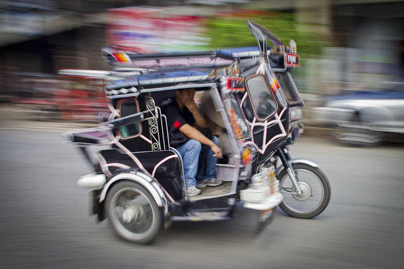 A typical tricycle.