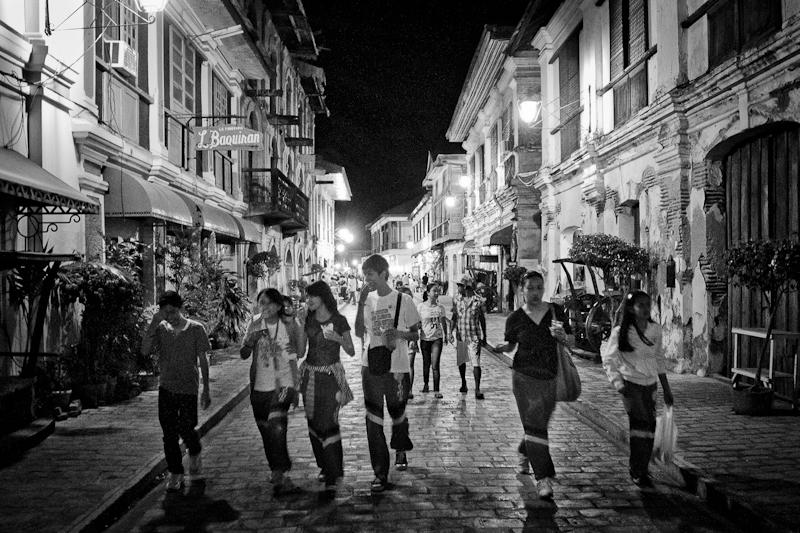 Nightlife in the Mestizo District.