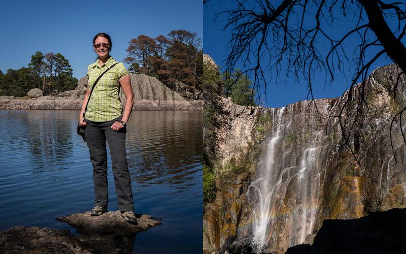 Tina at Lago Arareko; Cascada Cusarare