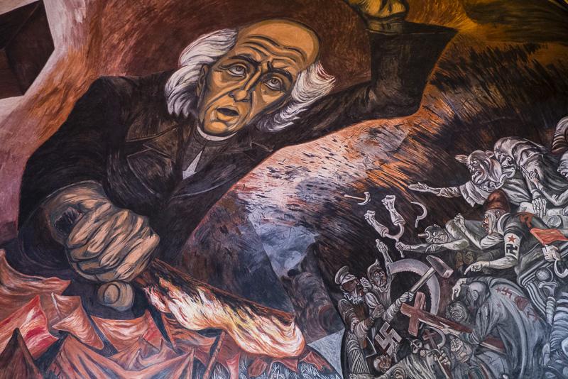 Mural by Jose Clemente Orozco in the Palacio de Gobierno, Guadalajara.