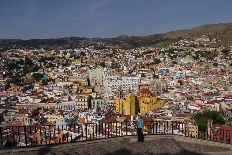 Looking over Guanajuato (and Tina).