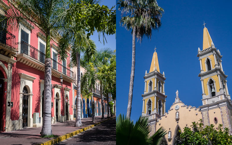 Some square; Some church, Old Mazatlán