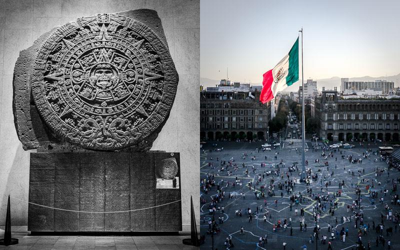 Aztec calendar stone; Zócalo