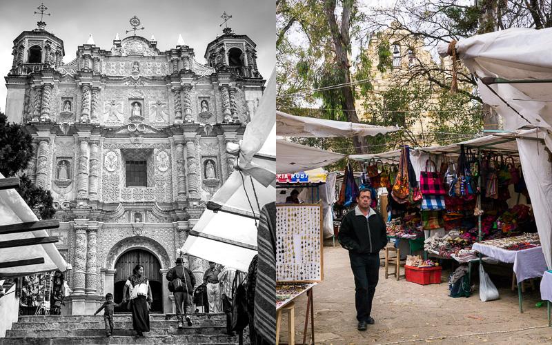 Craft market outside the Templo de la Caridad, San Christóbal