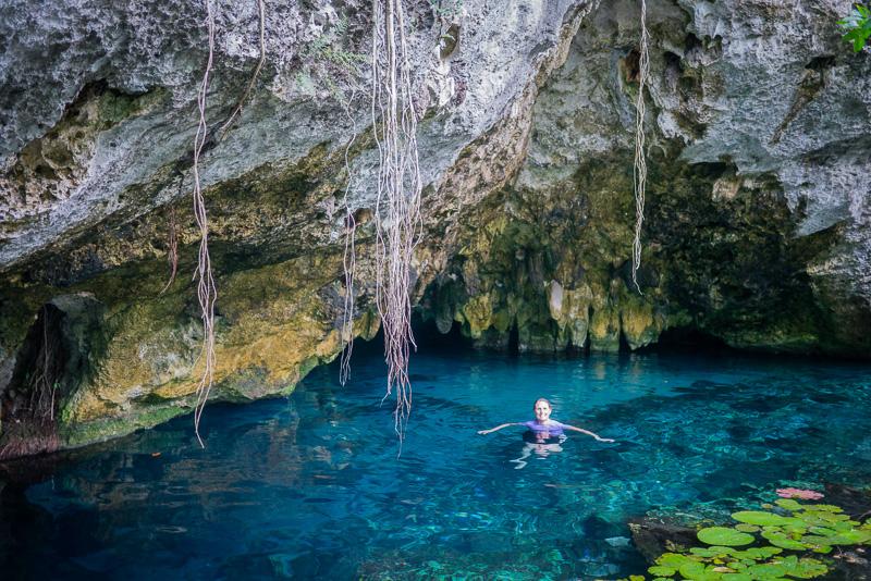 Inside the Gran Cenote.