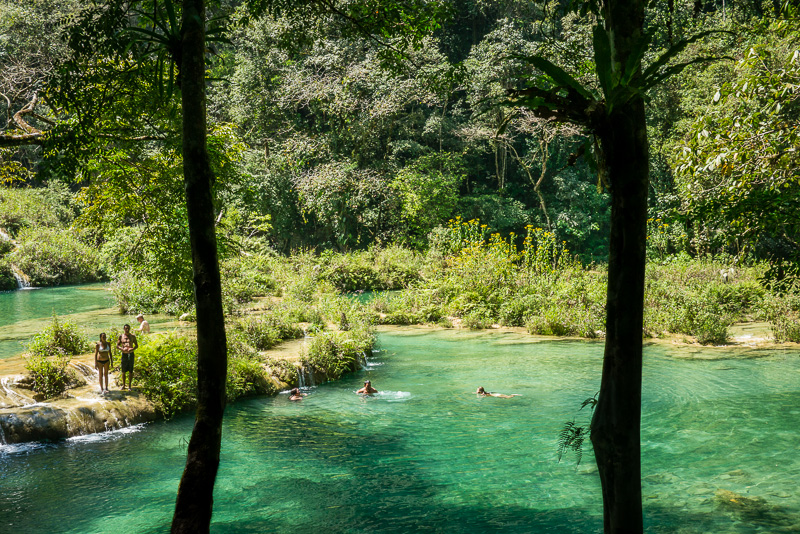 The pools of Semuc Champey.