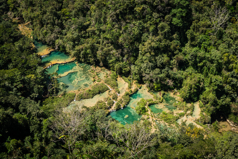 Semuc Champey from above.