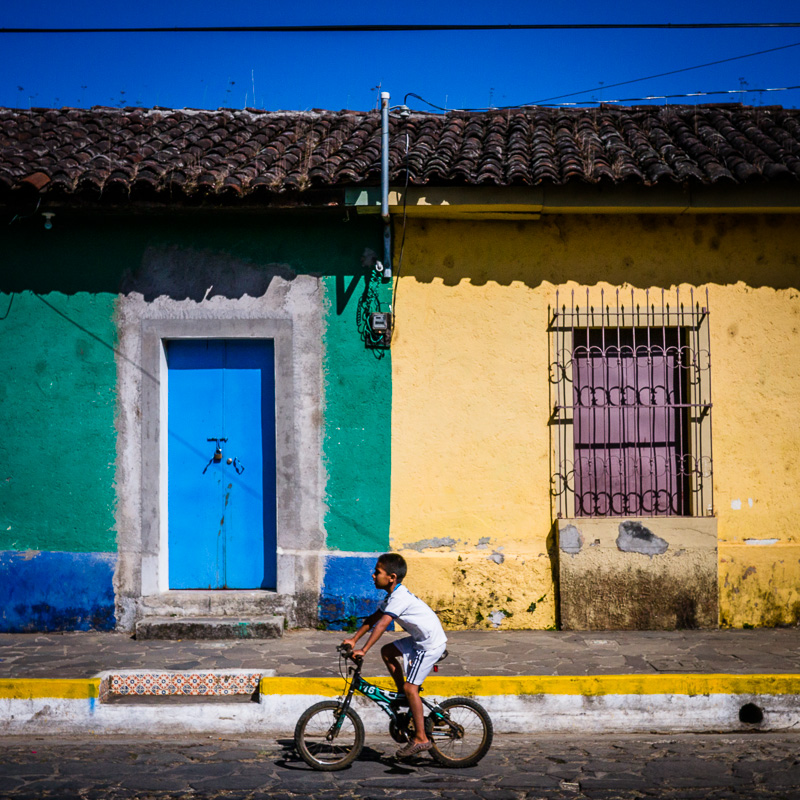 Boy on bike, Ataco