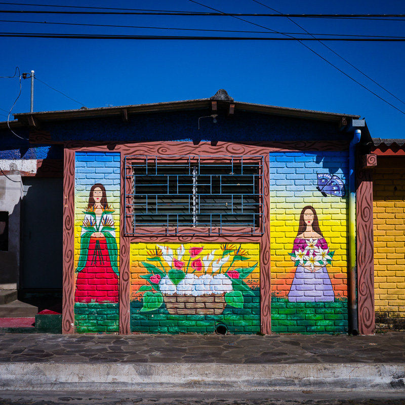 Ataco is also known for it's colorful murals.