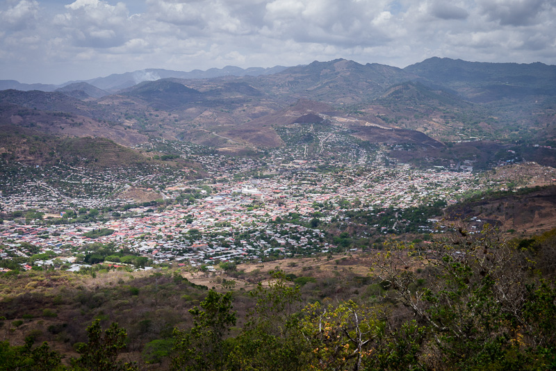 Looking out over Matagalpa.