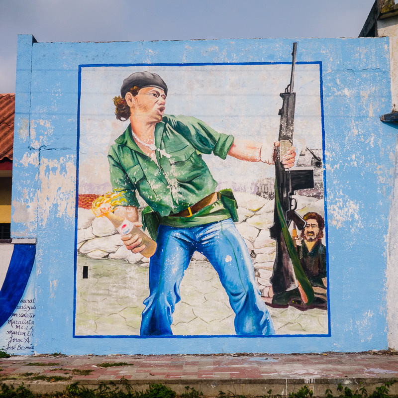 Revolutionary mural in Somoto.