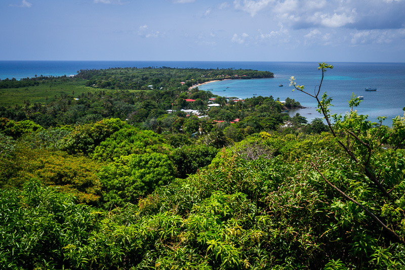 The view from the observation tower in the center of the island.