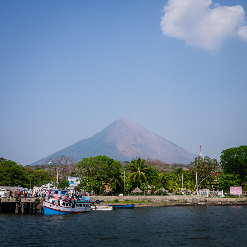 "Arriving in Moyogalpa, the main ""city"" on the island."